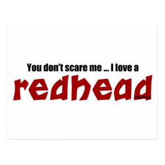 Amo un Redhead Tarjeta Postal
