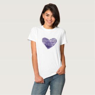 Amo una camiseta pediátrica de las señoras del poleras
