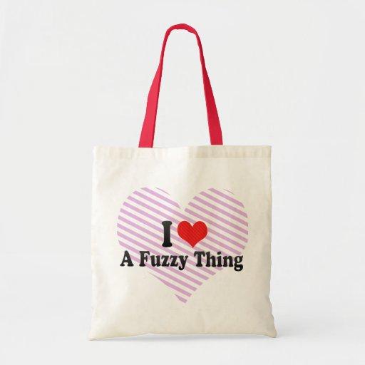 Amo una cosa borrosa bolsa de mano