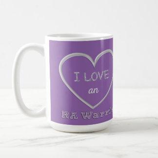 Amo una taza del guerrero del RA