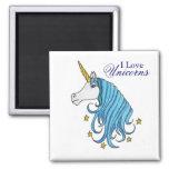 Amo unicornios iman de nevera