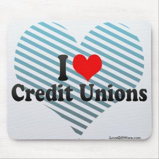 Amo uniones de crédito tapetes de ratones
