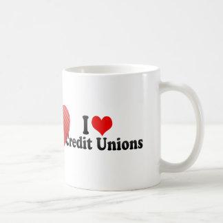 Amo uniones de crédito tazas de café