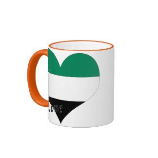 Amo United Arab Emirates Taza De Dos Colores