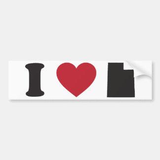 Amo Utah Etiqueta De Parachoque