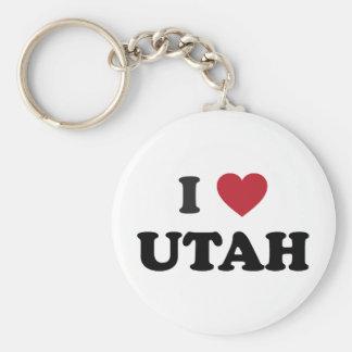 Amo Utah Llavero Redondo Tipo Pin