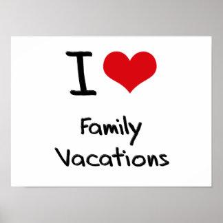 Amo vacaciones de familia impresiones