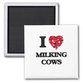 Amo vacas de ordeño imán cuadrado