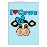Amo vacas felicitación