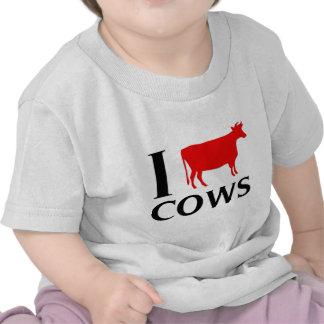 Amo vacas camiseta