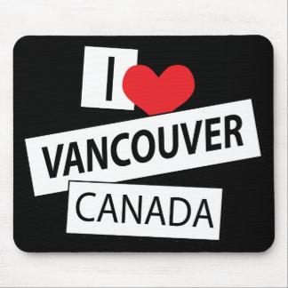 Amo Vancouver Canadá Alfombrilla De Ratones