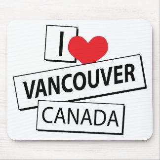 Amo Vancouver Canadá Alfombrillas De Ratones
