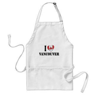 Amo Vancouver Canadá Delantal