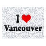 Amo Vancouver, Canadá Tarjeta Postal