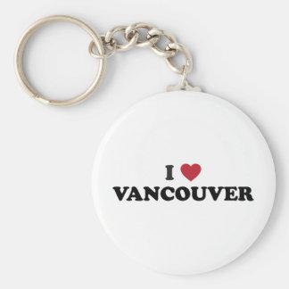 Amo Vancouver Washington Llavero Redondo Tipo Pin