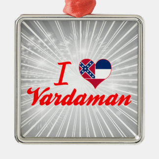 Amo Vardaman, Mississippi Adorno Cuadrado Plateado