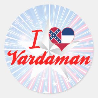 Amo Vardaman, Mississippi Pegatina Redonda