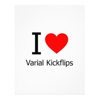 Amo Varial Kickflips Membrete Personalizado