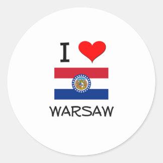 Amo Varsovia Missouri Pegatina Redonda