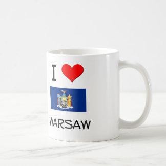 Amo Varsovia Nueva York Tazas De Café