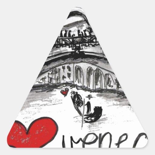 Amo Venecia Calcomania De Trianguladas