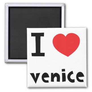 Amo Venecia Imán Cuadrado