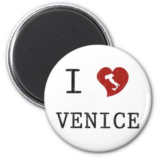 Amo Venecia Imán Redondo 5 Cm