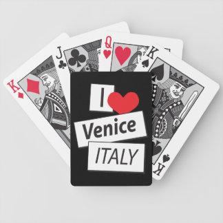 Amo Venecia Italia Baraja De Cartas
