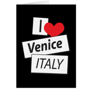 Amo Venecia Italia Tarjeta De Felicitación