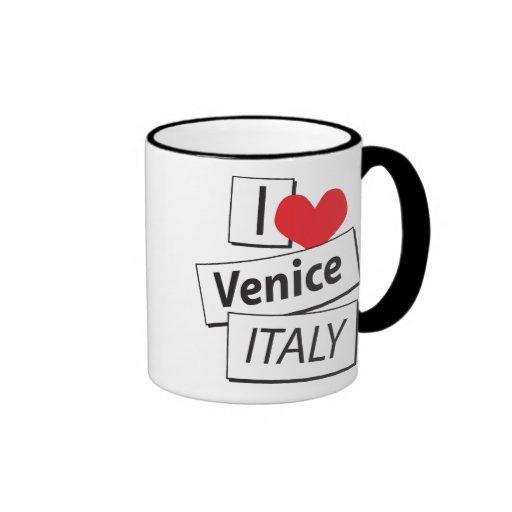 Amo Venecia Italia Taza De Dos Colores