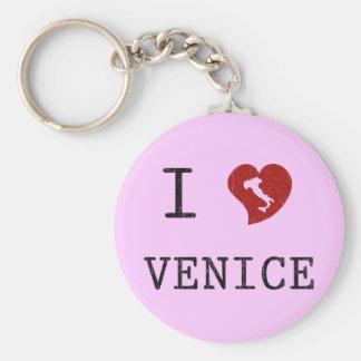 Amo Venecia Llavero Redondo Tipo Pin