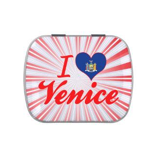 Amo Venecia, Nueva York Frascos De Caramelos