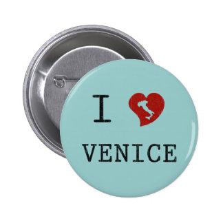 Amo Venecia Pin Redondo De 2 Pulgadas