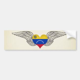 Amo Venezuela - alas Pegatina Para Auto
