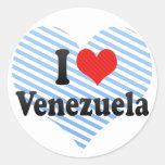 Amo Venezuela Pegatina Redonda