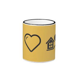 Amo venta de la casa taza a dos colores