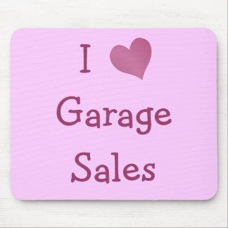 Amo ventas de garaje alfombrilla de ratón