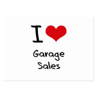 Amo ventas de garaje tarjeta de negocio