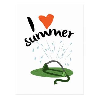 Amo verano tarjeta postal