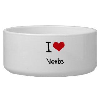 Amo verbos tazones para perrros