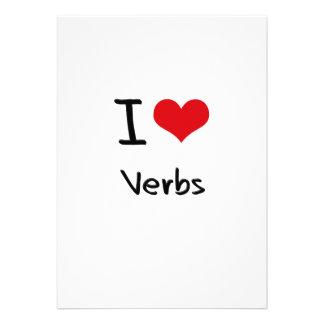 Amo verbos invitacion personalizada