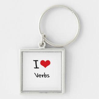 Amo verbos llaveros personalizados