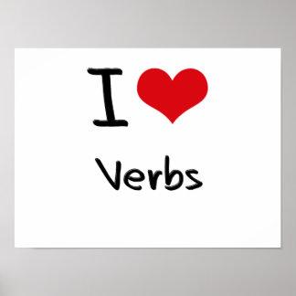 Amo verbos impresiones