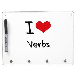 Amo verbos tableros blancos
