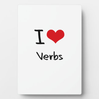 Amo verbos placas con fotos