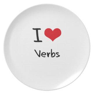 Amo verbos platos