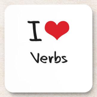 Amo verbos posavasos de bebida