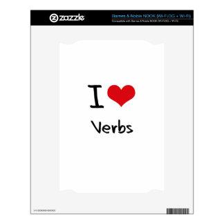 Amo verbos calcomanías para el NOOK