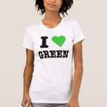 amo verde camisetas