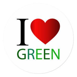 """Amo verde invitación 5.25"""" x 5.25"""""""